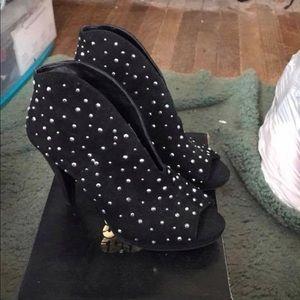 Women's size a rhinestone booties